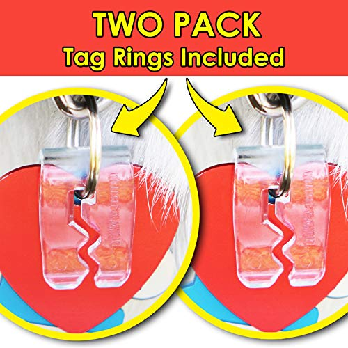 SilenTags Pet Tag Silencer (Clear Two Pack)