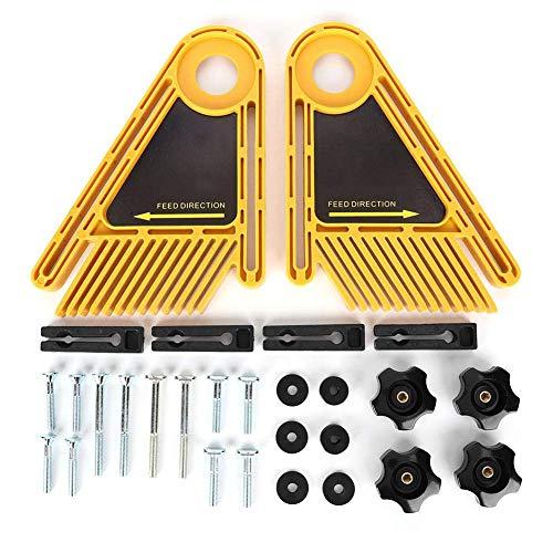 Tabla de plumas de mesa de sierra de sierra de sierra de inglete, muelles ajustables para mesas de enrutador de mesa de sierra ranura de carpintería accesorios de herramientas eléctricas amarillo