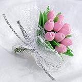 Unbekannt Mini Blumenstrauss rosa Rosen Puppenhaus Miniatur 1:12