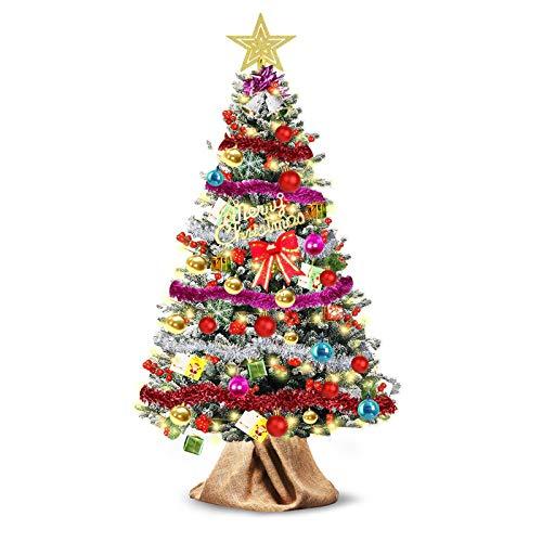 WTOR 55個 クリスマスツリー セット 高150CM 枝数500本 8パターンLED 飾りライト+クリスマス オーナメント+麻バッグつき 高濃密度 組立簡単 収納便利 クリスマス飾り プレゼント おしゃれ 装飾 クリスマスグッズ インテリア 用品
