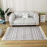 NW Alfombras grandes de algodón, alfombras de tejido para el hogar, con borla, alfombra de área de estar, tapiz decorativo de cocina, baño, pasillo, puerta de piso de 160 x 200 cm