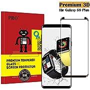 Galaxy S8 Plus Panzerglas Schutzfolie, Tjicui 3D Hohe Qualität Gehärteter Displayschutzfolie [HD klar] [Anti Fingerabdruck] [Anti-Kratzen] [Blasenfrei] Gehärtetes Glas 3D Displayschutzfolie für Samsung Galaxy S8 Plus