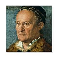 INVO ポートレートオブジェイコブマフェルアルブレヒトドゥラー 油絵 キャンバス ウォールアート フレーム付き 即壁掛け 40X40CM