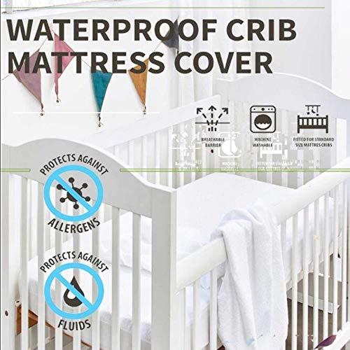 CDFD matrashoes 72X132CM glad polyester wieg waterdichte matrasbeschermer voor baby peuter bed cover matras wieg waterdichte bed lakens