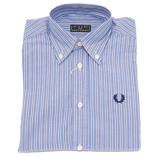 Fred Perry 3535T Camicia Bimbo Manica Lunga Blu Shirt Long Sleeve Kid [6 Years]