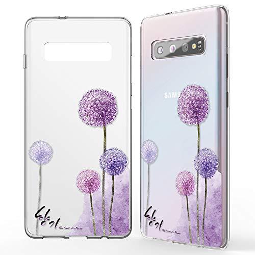 NALIA Hülle kompatibel mit Samsung Galaxy S10, Motiv Handyhülle Slim Silikon Hülle Cover Schutzhülle Dünn Durchsichtig, Etui Handy-Tasche Backcover Transparent Bumper Skin, Designs:Dandelion Pink
