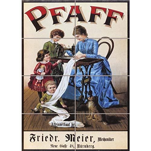 PANEL ART PRINT VINTAGE PFAFF SEWING MACHINE GERMANY VINTAGE RETRO OLD ADVERTISING REPRODUCTION POSTER OZ4704