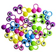 Etmact Eye Finger Puppets, Welcome to Party, A Pack of 24 Finger Puppets Finger Toy Eye for an Eye Party Packs Eye Finger Puppets Large Eye Toy Eyes Eye Puppet Puppet Toys Finger Eyes Large Puppets