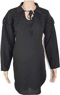 M4M Fashion Maternity Blouse For Women - Black - Large