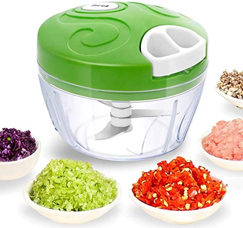Saiveina Manual Food Chopper, Hand Pull Pro Onion Chopper, Handheld String Food Processor/Mixer/Blender for Veggie, Garlic, Meat, Salsa Maker