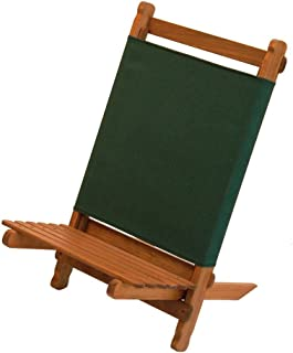 BYER OF MAINE, Pangean Lounger, Durable Hardwood with Heavy Duty Polyester, Easy to Fold and Carry, Wooden Beach Chair, Camping Chair, Foldable Chair, Portable Chair, Pangean Furniture Line, Single