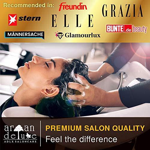 Balsamo Argan Deluxe qualità professionale 300 ml – nutriente con olio di Argan per capelli dall'aspetto morbido e lucente