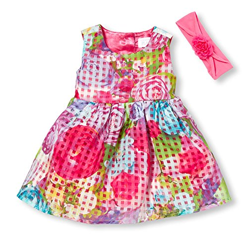 The Children's Place Baby Girls' Sleeveless Dressy Dresses, Pink 6929, 6-9 Months
