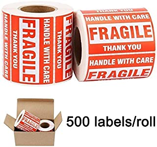 BESTEASY Fragile Stickers, Do Not Drop Labels, Handle with Care Shipping Labels, Large Fragile - Permanent Adhesive Handle...