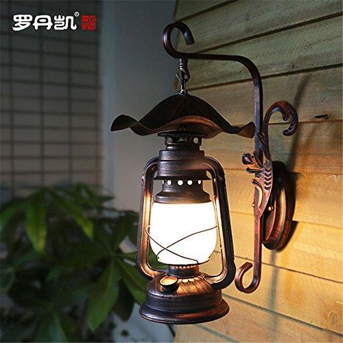 YU-K eenvoudige vintage woonkamer eetkamer lampen verlichten wandlamp antiek paarden wandlamp vintage kerosine wandlamp binnenplaats hal decoratieve wandlamp (230 * 460 mm)
