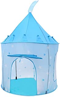 Rabing BB1601185 Play Tent for Kids Indoor Or Outdoor Fairy Tale Castle Blue Children Playhouse