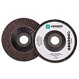 Discos de lámina para lijadoras de VONROC - Juego de 2 piezas - K40 & K60 - Ø 115 x 22,2 mm