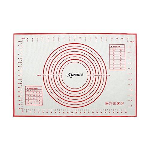 Aprince Silicone NonStick Baking Mat Large with Measurements NonSlip for Rolling Dough Cookie Sheet Kneading Mat Style 31575#039#039x2362#039#039