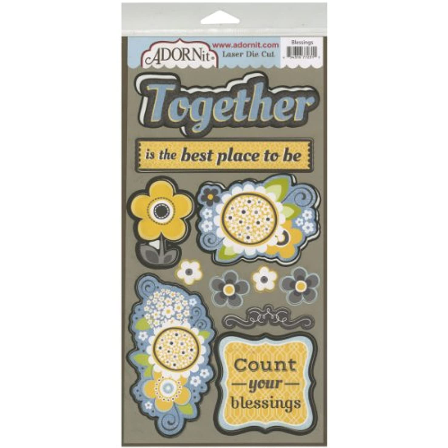 Adorn-It AFP77231 Family Patchwork Laser Die-Cuts, Blessings