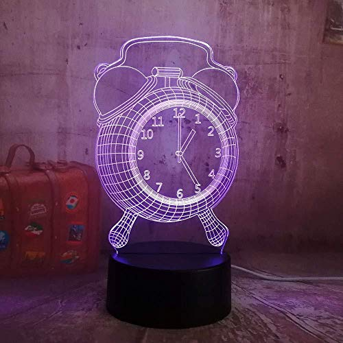 3D Illusion Night Light bluetooth smart Control 7&16M Color Mobile App Led Vision Alarm Clock Children USB Desk ara As Baby Sleep Home Decor Battery Power colorful Creative gift