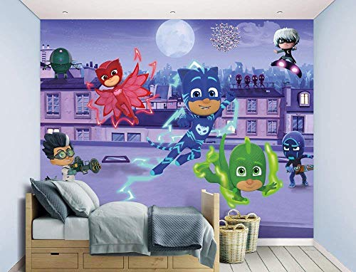 Walltastic, Mural, PJ Masks, Multicolor, 243 cm x 304 cm