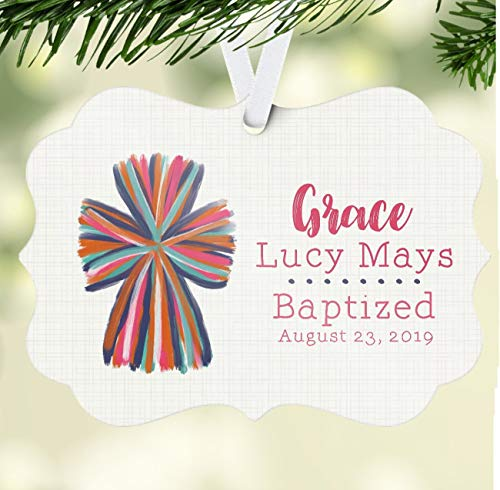 DKISEE Baptism Ornament, Personalized Baby Ornament, Confirmation Ornament, Personalized Confirmation Gift Christening Ornament, Ornament, Acrylic Ornament Keepsake