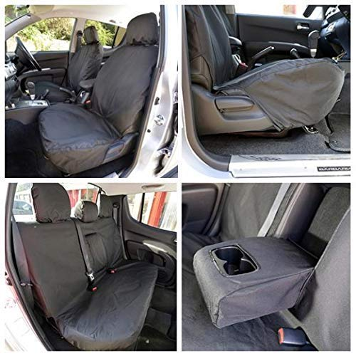Mitsubishi L200 2006-2015  Black Waterproof /& Tailored Rear Bench Seat Cover