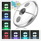 Patio LED Umbrella Light with Bluetooth Speaker KINGSO Rechargeable Wireless Speaker Umbrella Lamp with Power Bank USB Potable Parasol Light with RGB Color Changing for Camping or Outdoor-Pure White