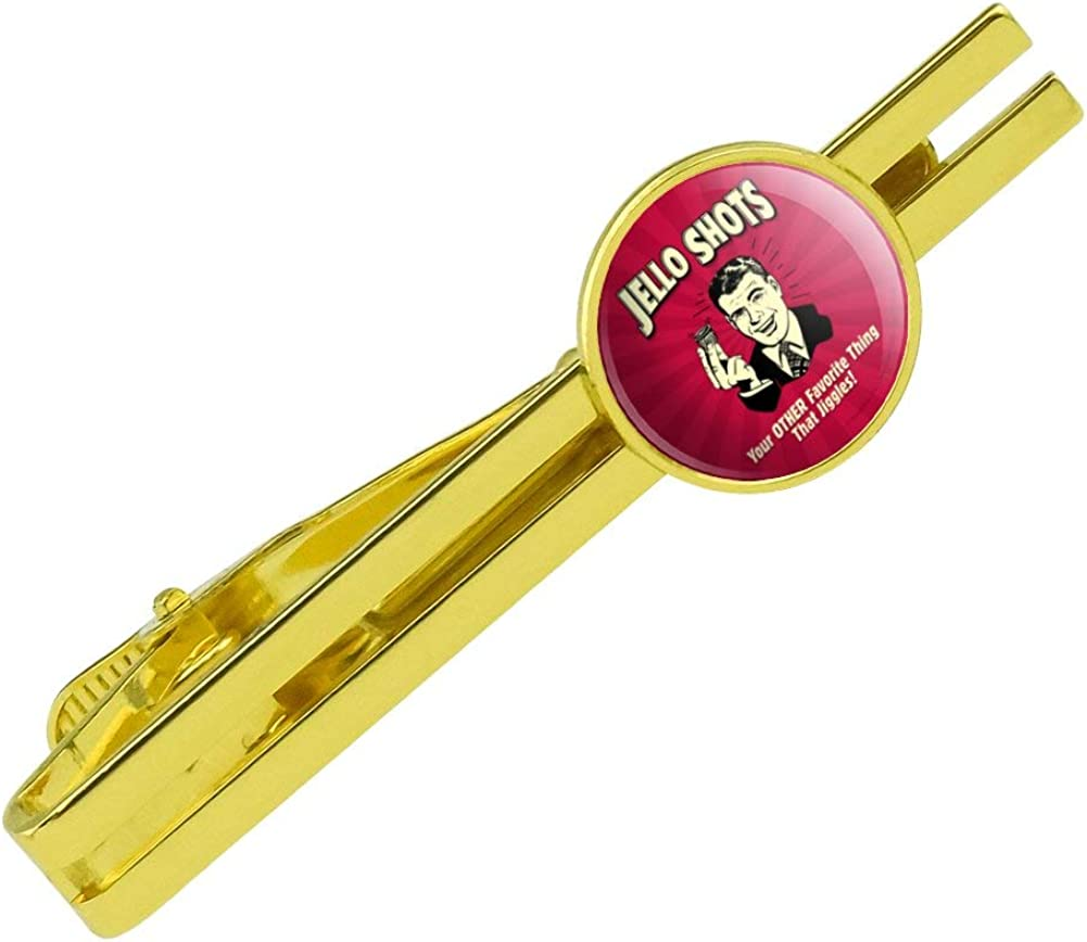 GRAPHICS & MORE Jello Shot Other Favorite Thing Jiggles Round Tie Bar Clip Clasp Tack Gold