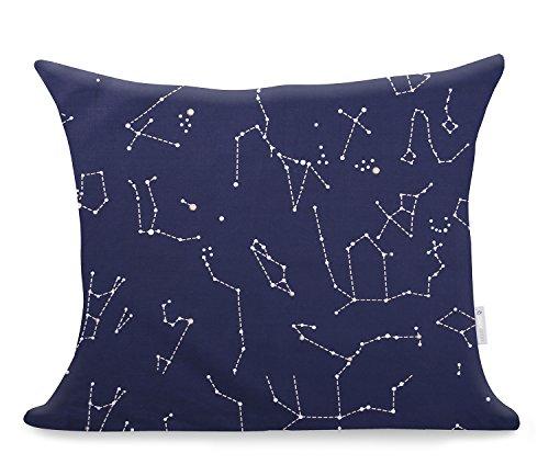 2 Fundas De Almohada 50x60 cm Modern algodón satén Mako satén Ducato Collection Constellation Azul Oscuro