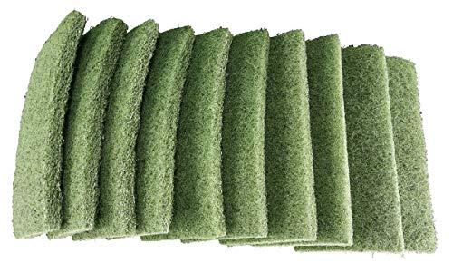 1a Profiline Super Handpad 25 x 11,5 x 2,5 cm 10 Stück Grün Schrubbpad Reinigungspad Vlies-Pads Superpad Putzpad für Stein PVC Fliesen Grundreinigung Nass- Scheuerpad Innen und Aussen für Padhalter