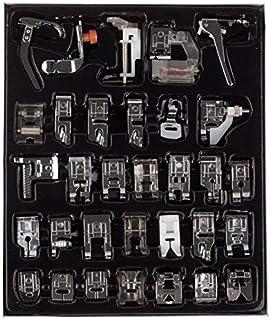 طقم ادوات الحياكة المنزلية المكون من 32 قطعة مع صندوق لآلات حياكة من براذر سينجر جانوم، اكسسوارات ماكينة خياطة