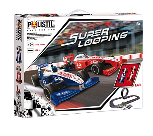 Polistil 960192 - Pista de Circuito Super Looping, Color Negro