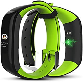 Bond Color Display P1 Plus Smart Bracelet Heart Rate Monitor Blood Pressure Smartwatch (Green)