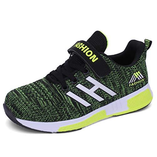 Maibb Kinder Schuhe Sportschuhe Turnschuhe Wanderschuhe Kinderschuhe Sneakers Laufen Sport Schuhe Laufschuhe Für Mädchen Jungen Ultraleicht Atmungsaktiv rutschfest (EU 28, Ih=grün)