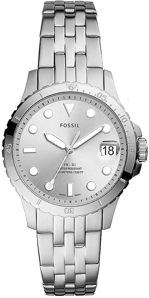 Fossil Reloj Analógico para De Las Mujeres de Cuarzo con Correa en Acero Inoxidable ES4744