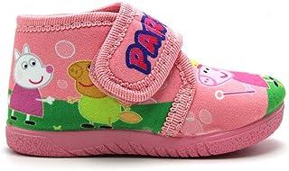 ALCALDE - Zapatillas de IR por casa Tipo Bota con Velcro, Peppa Pig para: Niña