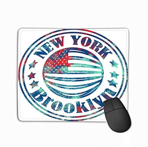 Alfombrilla de ratón Street Graphic Style NYC Brooklyn City Art Plantilla de impresión Ropa Tarjeta Etiqueta Cartel Emblema Sello