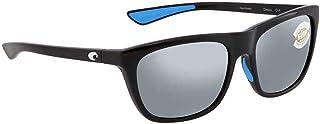 Costa Del Mar CHA11OSGP Mens Shiny Black Frame Gray Silver Mirror Lens Square Sunglasses