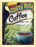 YASMINE HANCOCK Costa Rica Coffee Gift Metall Plaque Zinn