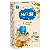 Nestlé Papilla 8 Cereales con Miel, Alimento para Bebés, 600g