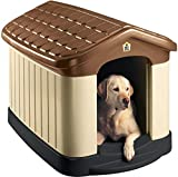 Pet Zone Tuff-N-Rugged Weather-Resistant Dog House. (Durable, Double Walled Plastic Dog...