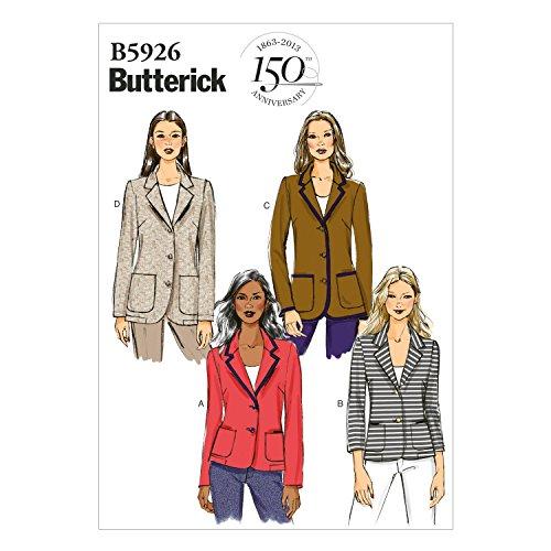 Butterick BTK 5926 B5 (8-10-12-14-16) B5926 Schnittmuster zum Nähen, Elegant, Extravagant, Modisch