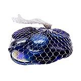 Indianbeautifulart Blue Swirl Pierre Décoration Marbles Décoration Aquarium Bottom Flat Glass 15 Pieces