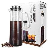 GREADEN Cold Brew Cafetière pour Cafe/Thé glacé 1 L / 34 oz à Fermeture hermétique, Carafe en...