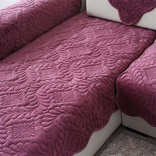 GoGOO Sofá Corto Toalla de Toalla de Invierno Cubierta de Color sólido Cubierta de sofá Antideslizante Universal para Sala de Estar