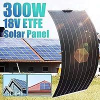 300ワットの柔軟な太陽電池パネル2ピース150Wの柔軟な太陽電池パネル防水単結晶ソーラーモジュールRVボートバッテリー充電システム