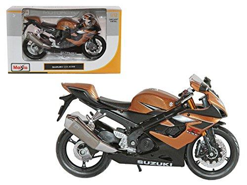 Moto Maisto Suzuki GSX R1000 Bronze 1/12 modelo