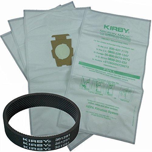 Avalir Kirby Microfiber Allergen Reduction Bags 204811 (6Pk) C/W Free Belt, White