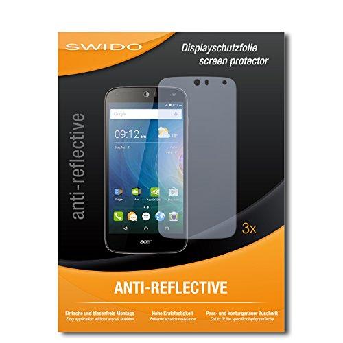 SWIDO® Bildschirmschutzfolie für Acer Liquid Z630S [3 Stück] Anti-Reflex MATT Entspiegelnd, Extrem Kratzfest, Schutz vor Kratzer, Folie, Bildschirmschutz, Schutzfolie, Panzerfolie